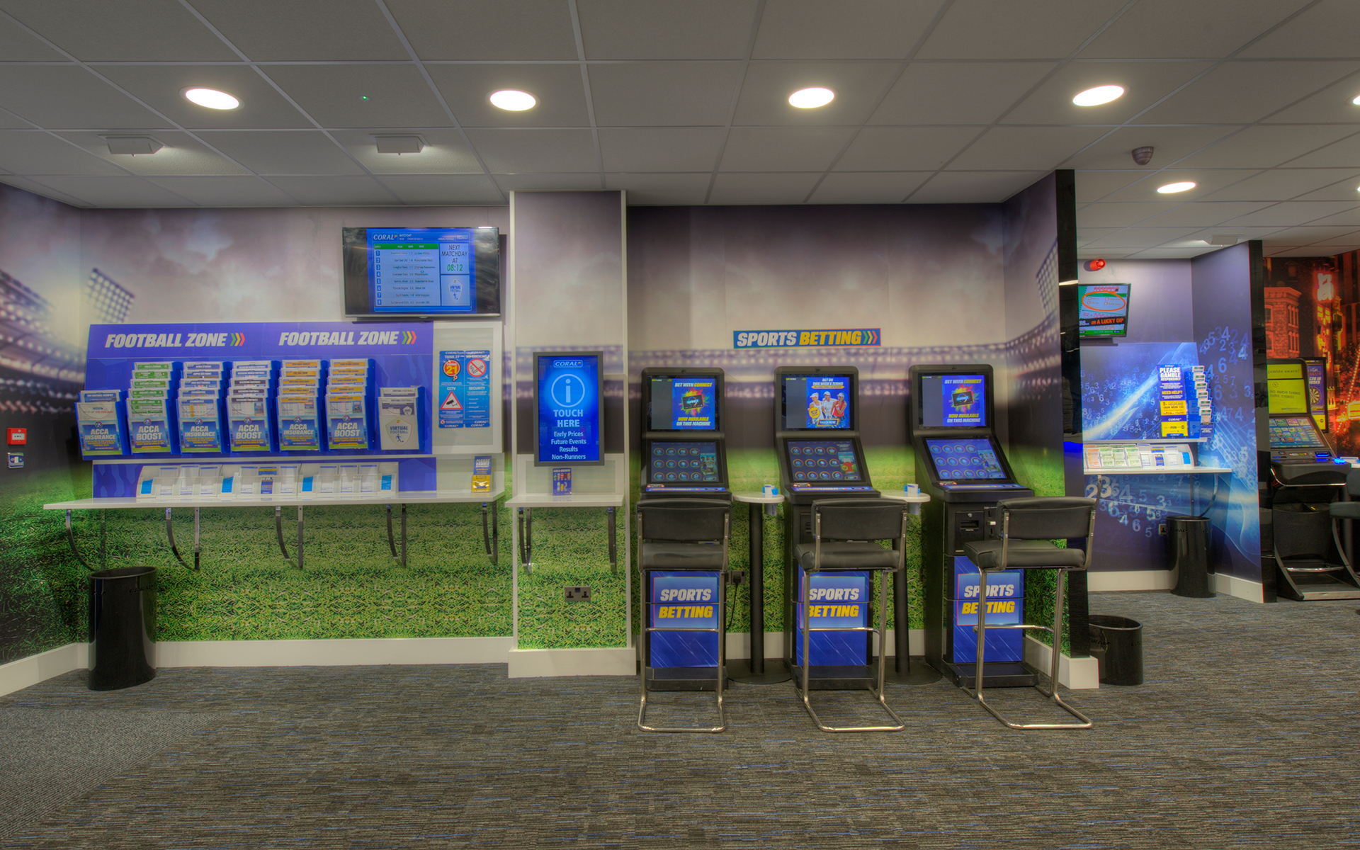 Coral Bookmakers interior